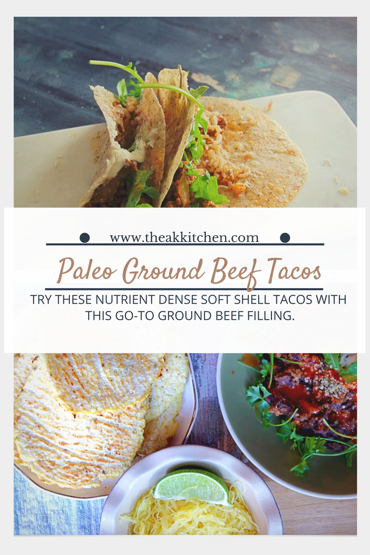 Soft Shell Paleo Ground Beef Tacos